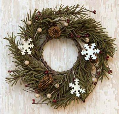 Snowflake & Pine Candle Ring