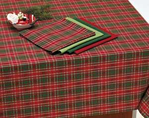 North Pole Plaid Tablecloth, 52 x 52 inch