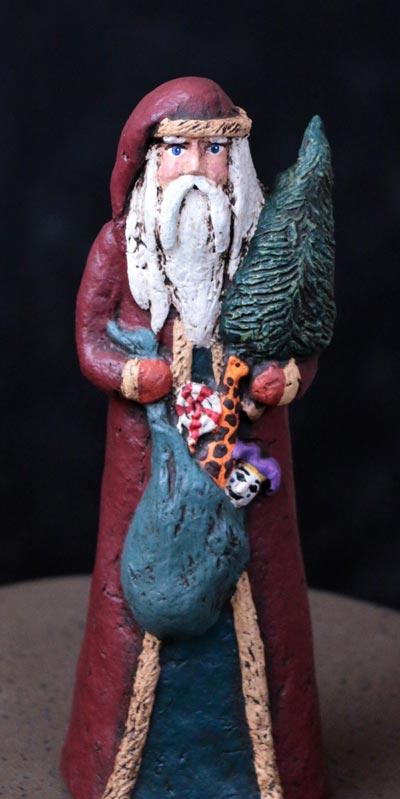 Santa with Toy Sack & Tree