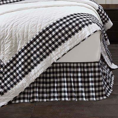 Annie Buffalo Black Check Twin Bed Skirt