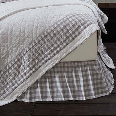 Annie Buffalo Grey Check Queen Bed Skirt