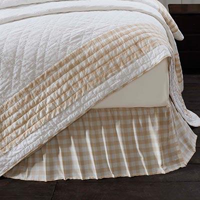 Annie Buffalo Tan Check King Bed Skirt