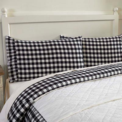 Annie Buffalo Black Check Standard Pillow Cases (Set of 2)