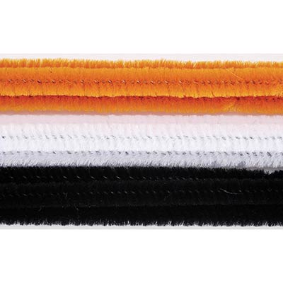 Halloween Colored Chenille Stems (100 pack)