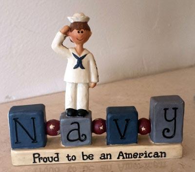 Navy Bead Block