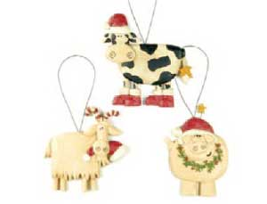 Christmas Cow, Pig, or Goat Ornament