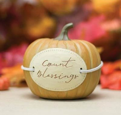 Count Blessings Pumpkin