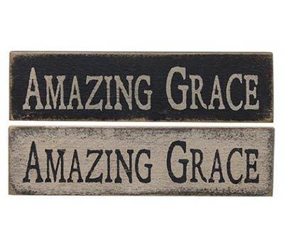Amazing Grace Primitive Wood Sign