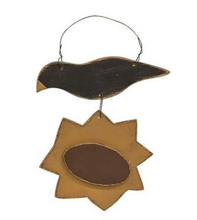 Crow & Sunflower Ornament