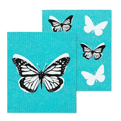 Butterfly Swedish Dish Cloths (Set of 2)