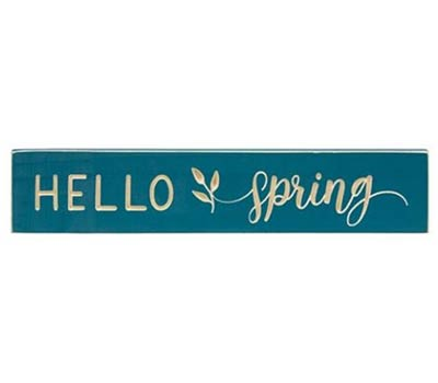 Hello Spring 18 inch Wood Sign