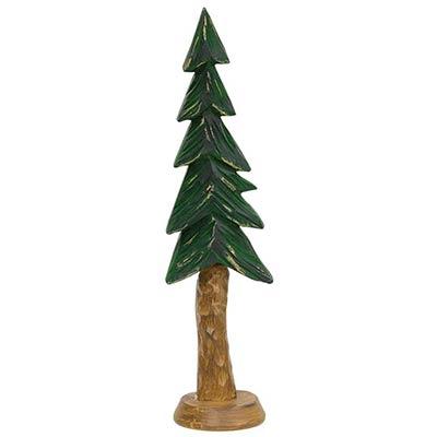 Carved Resin Alpine Tree - 9 inch