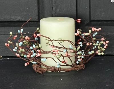 Pastel Pip Berry Candle Ring - 3.5 inch