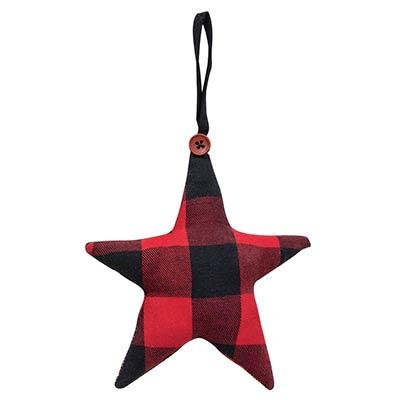 Buffalo Check Star Ornament