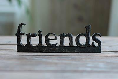 Friends Resin Shelf Sitter - Black