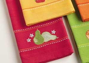 Pears Embroidered Dishtowel