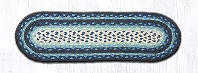 Blueberry and Creme Braided Jute Stair Tread