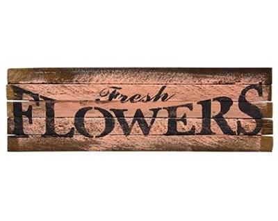Flowers Lath Sign (Choose color)