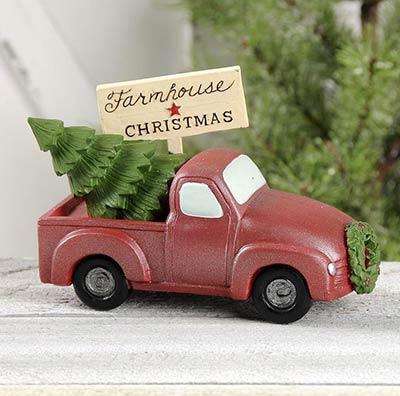 Farmhouse Christmas Truck with Tree