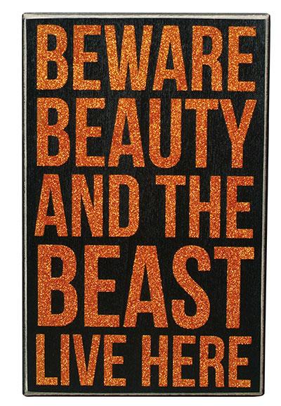Beauty & the Beast Box Sign