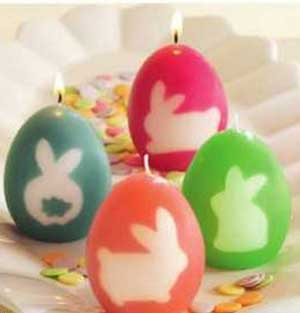 Silhouette Egg Candle