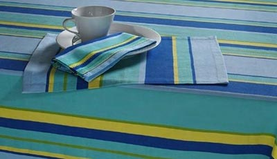 Tropez Stripe Tablecloth - 60 x 108 inches