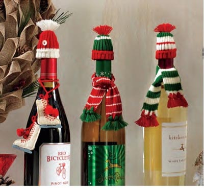 Wine Bottle Hat & Scarf Set