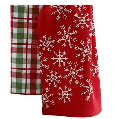Snowflake or Plaid Dishtowel