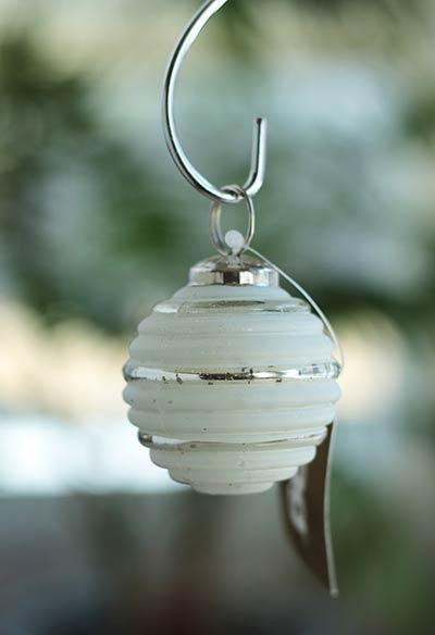 Frost White Festive Ornament - 2 inch