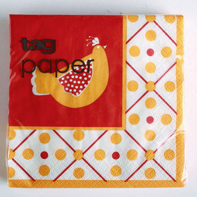 Red Rooster Paper Cocktail Napkins