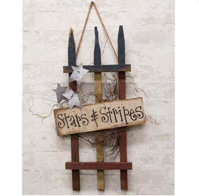 Stars & Stripes Picket Fence Sign