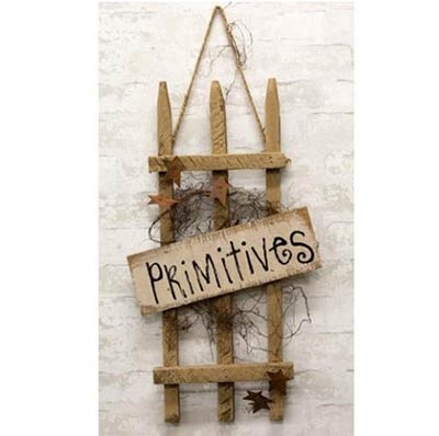 Primitives Picket Fence Sign