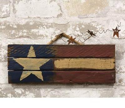 Primitive Lath America Flag Sign - 12 inch