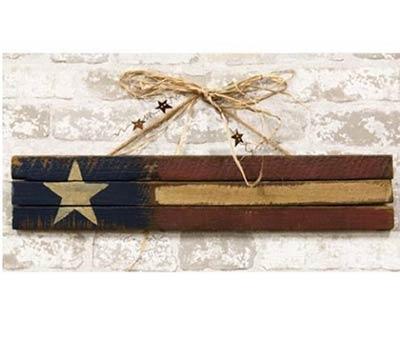 Primitive Skinny Lath America Flag Sign - 24 inch