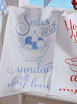 Smiles and Sundaes Dishtowel