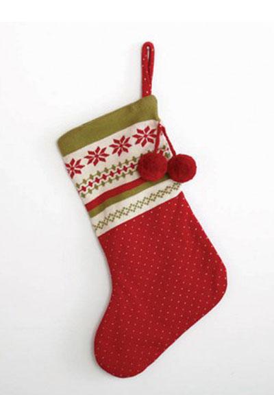 Nordic Winter Knit Stocking