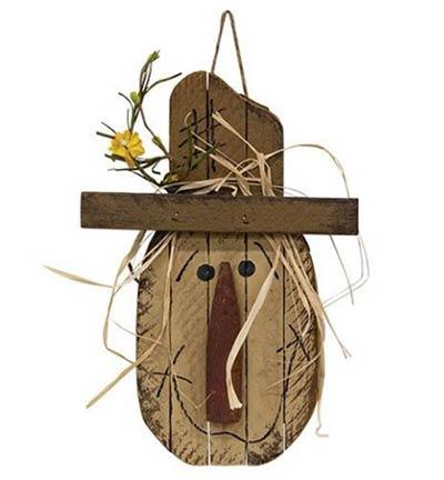 Lath Scarecrow Head Wall Decor
