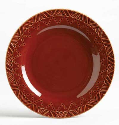 Sierra Stoneware Plate - Burnt Sienna