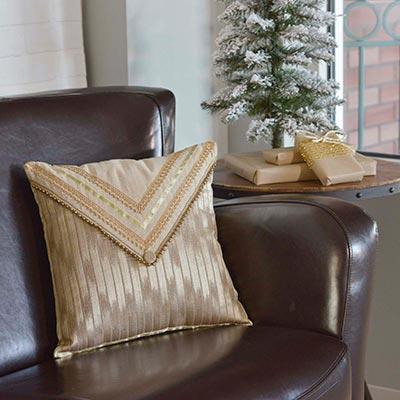 Celebrate Gold Decorative Pillow