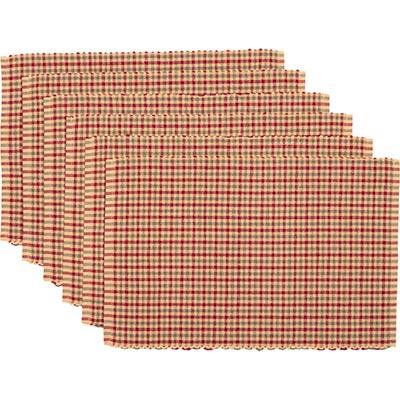Jonathan Christmas Plaid Ribbed Placemats (Set of 6)