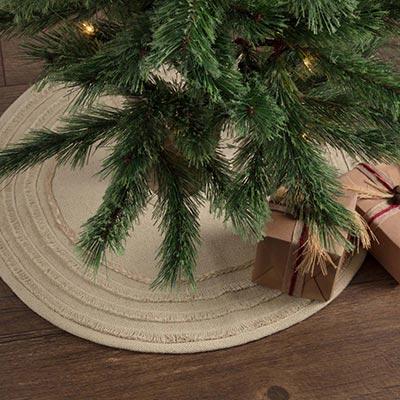 burlap vintage christmas tree skirt mini - Vintage Christmas Tree Skirt