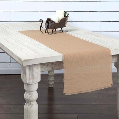 Jute Burlap Natural 48 inch Table Runner