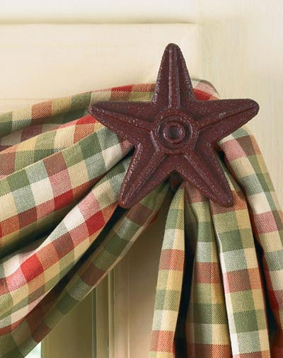 Star Curtain Hook - Red