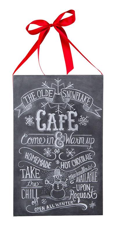 Snowflake Cafe Chalk Sign