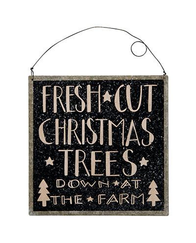 Christmas Trees Tin Sign