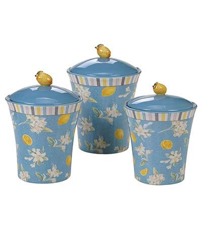Citron Lemon Canisters (Set of 3)