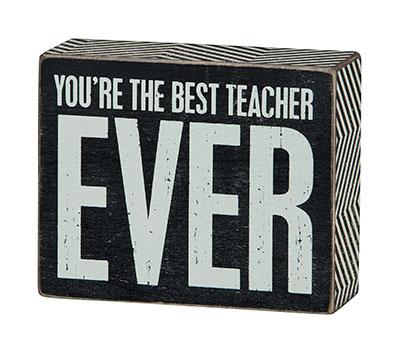 Best Teacher Box Sign