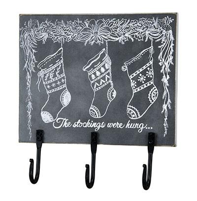 Chalk Art Stockings Hook Board