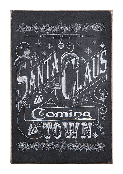 Santa Claus Wooden Postcard