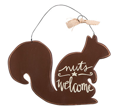 Nuts Welcome Plaque